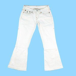 True Religion Jeans Women's 31 White Joey Flared